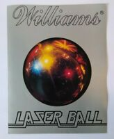 Williams Laser Ball Original Pinball Machine FLYER Original 1979 Art Print Sheet