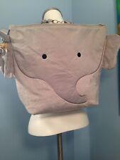 Nwt Nikiani My First Buddies Buggy Gear Wet Dry Bag Backpack Plush Grey Elephant