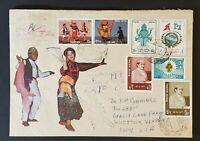 1978 Kathmandu Nepal Woodstock Vermont Multi Franking Registered Air Mail Cover