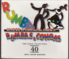 COFFRET 2 CDs 40T RUMBAS & CONGAS UNDER A HAVANA MOON 1998 NEUF SCELLE