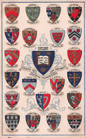 R241134 Oxford University. Arms of The Colleges of Oxford. Coat of Arms. Valenti