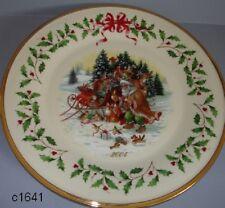 Lenox Annual Christmas Holiday Plate 2004 Santa's Woodland - New in Box