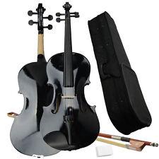 New Black 16''Student School Concert Basswood Acoustic Viola w/ Case Bow Rosin