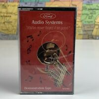 SHIPS SAME DAY Ford Audio Systems Demonstration Demo CASSETTE TAPE New Sealed