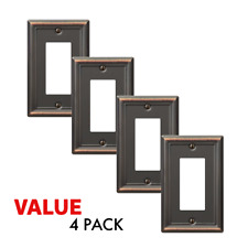 Value 4-Pack Rocker Gfci Outlet Toggle Switch Wall Plate, Oil Rubbed Bronze
