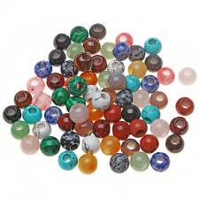 Wholesale lot 5Pcs! natural multi gemstone 14x8MM gros trou fashion bijoux perles