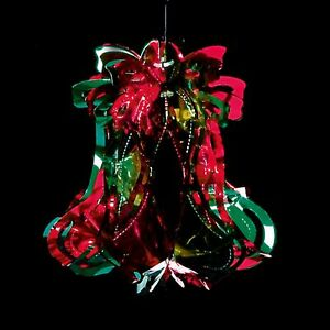 Foil Ceiling Decorations - Christmas - Red & Green 30cm Bell