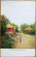 Cebu, Philippine Islands 1909 Postcard: San Nichola - Richwood, OH Postmark - PI