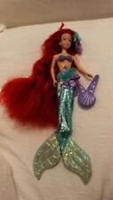 Tyco Disney Beautiful Hair Ariel / Arielle Meerjungfrau 1993 Puppe mit Kleidung