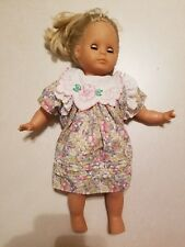 "Vintage 1988 Max Zapf 18"" Doll Soft Rubber Except For Plush Body Baby"