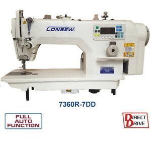 Consew 7360R-7DD High Speed Single Needle Drop Feed Lockstitch Industrial Sewing