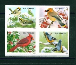 [SOLD] US Scott # 5126 - 5129 / 5129a Songbirds in Snow Block of 4 MNH
