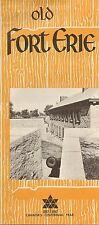 1967 OLD FORT ERIE Drawbridge Niagara Parks Brochure Ontario Canada Centennial