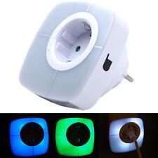GRUNDIG 12 LED Design Sensor Nachtlicht Steckdose Kindersicherung 3 Farben Light