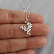 Year of the Rooster Necklace - 925 Sterling Silver - Chinese Zodiac Pendant NEW