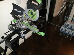 Evolution Fury3 s Mitre Saw With Evolution Mitre Saw Stand with Extendable Leg -