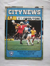 Orig.PRG   England  2.Division  1979/80   LEICESTER CITY FC - SWANSEA CITY FC !!