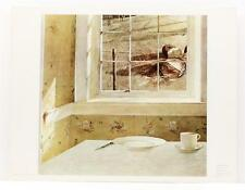 Vintage ANDREW WYETH Ground Hog Day Realism Philadelphia Museum Lithograph #230T
