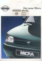 Nissan Micra Prospekt 10/92 brochure 1992 Autoprospekt Broschüre prospectus Auto