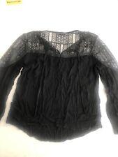 Zanzea Black Lace Top Size M