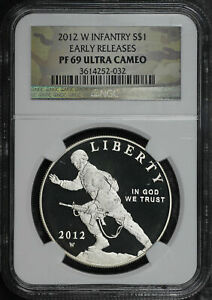2012-W Infantry Soldier Silver Dollar Commemorative NGC PF-69 UC Early Release