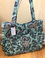 Vera Bradley Fan Floral Pleated Tote Shoulder Bag Purse NWT RETIRED