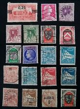 ALGERIA - 19 MIXED USED STAMPS - SOME with SURCHARGE.....    BARGAIN    (201)