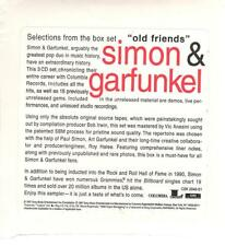 "Simon & Garfunkel, ""Old Friends""; 12 track Promo-Only CD Sampler"