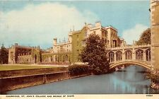 B89124 cambridge st john s college and bridge of sighs   uk 14x9cm