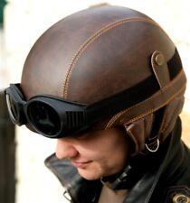 helmet sky parachute goggles parapente eco leather black brown pilot