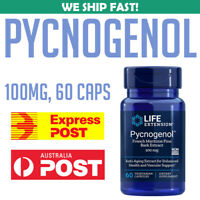 Life Extension Pycnogenol French Maritime Pine Bark Extract 100 mg 60 caps AU