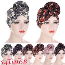 Indian Flower Hijab Women Chemo Cap Muslim Scarf Turban Headwarp Hat Head Cover