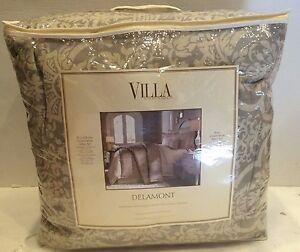 VILLA DELAMONT FULL/QUEEN COMFORTER MINI SET w/ 2 standard shams BRAND NEW!