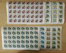 Mongolia - Folktales IMPERF Stamps - Set of Full Sheets of 40 Stamps and 40 S/S