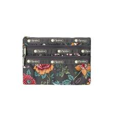 LeSportsac Classic 3-Zip Cosmetic Pouch Make Up Bag in Joy Garden NWT