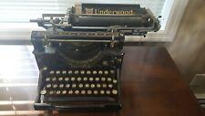 Underwood Typewriter Vintage Model No. 5 Serial #1588865.