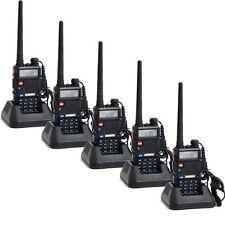 5pcs/lot BaoFeng walkie talkie UV-5R VHF+UHF 128CH 5W 2 way radio US warehouse