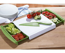 Cutting Board Chopping Board with Retractable Drawers Chop 'n Clear