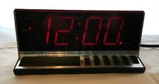 Vintage Retro Chic Spartus 1150 Electronic Digital Clock Red LED Alarm