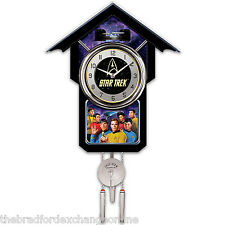 Star Trek Cuckoo Clock With Sound, Motion And Original Series Crew: 1 Of 5,000
