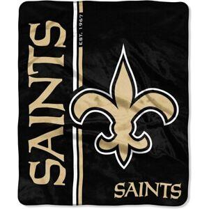 """New Orleans Saints 50"""" x 60"""" Restructure Design Raschel Blanket by Northwest"""
