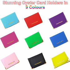 Womens faux leather business and credit card cases ebay new leather oyster travel card bus pass holder wallet rail card cover case reheart Images