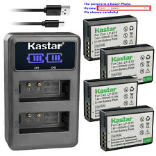 Kastar Battery LCD Dual Charger for Canon LP-E10 LPE10 & Canon EOS Rebel T7 DSLR