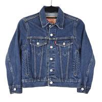 Levis 57511 Womens Trucker Blue Denim Jean Jacket Size Small