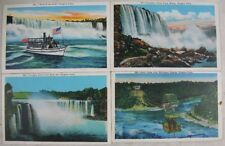 9 Antique Postcards Niagara Falls, NY American Falls Goat Island