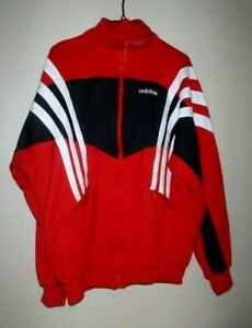 Vtg ADIDAS  Jacket TRACK soccer Full zipper Sz XL Mens Predator 90's Classic