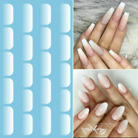 Opal White Gradient Nail Water Decals Transfer Stickers Nail Art Wrap Tips Decor