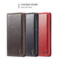 CaseMe Vintage Leather Wallet Flip Case Cover for iPhone Samsung LG Sony Huawei