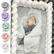 UK Infant Plush Crib Bumper Bedding Bed Cot Braid Pillow Pad Protector Safe A1