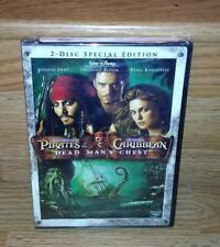 Pirates of the Caribbean 2 Dead Man's Chest 2-Disc DVD Depp Genuine Disney NEW